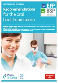 Recommendations for the oral healthcare team